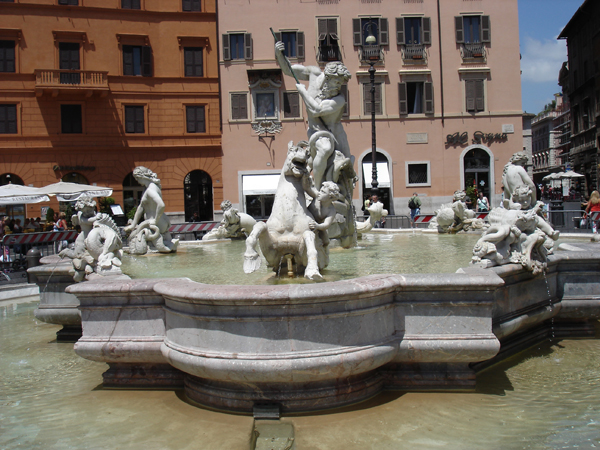 Fountain of Neptune. Piazza Navona