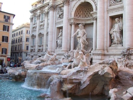 The Trevi Fountain by Bernini (under repair as of May 2014)