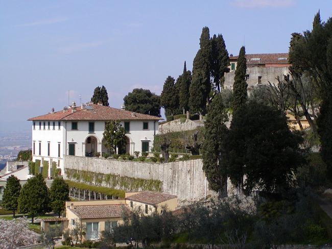 Villa Medici on the hills overlooking Fiseole