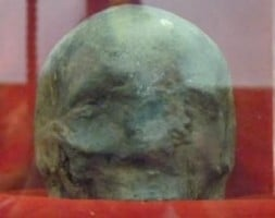 Skull of St. John the Baptist.