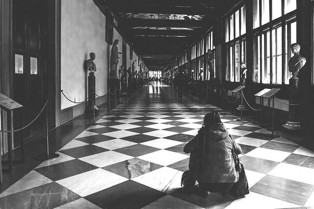 Beautiful photo inside the uffizi