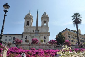 The Spanish Steps are a 2 minute walk.