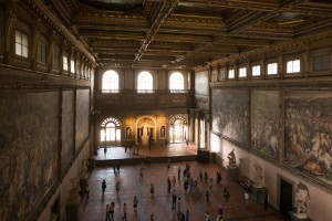 The Hall of 500 at Palazzo Vecchio, Florence in Columbia Pictures' INFERNO.