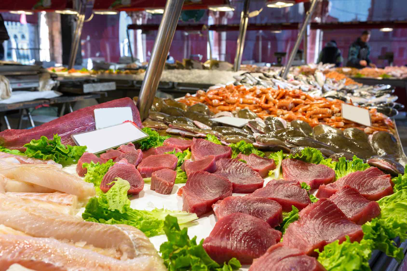 Traditional Foods in Venice by Italy Perfect Rialto Fish Market