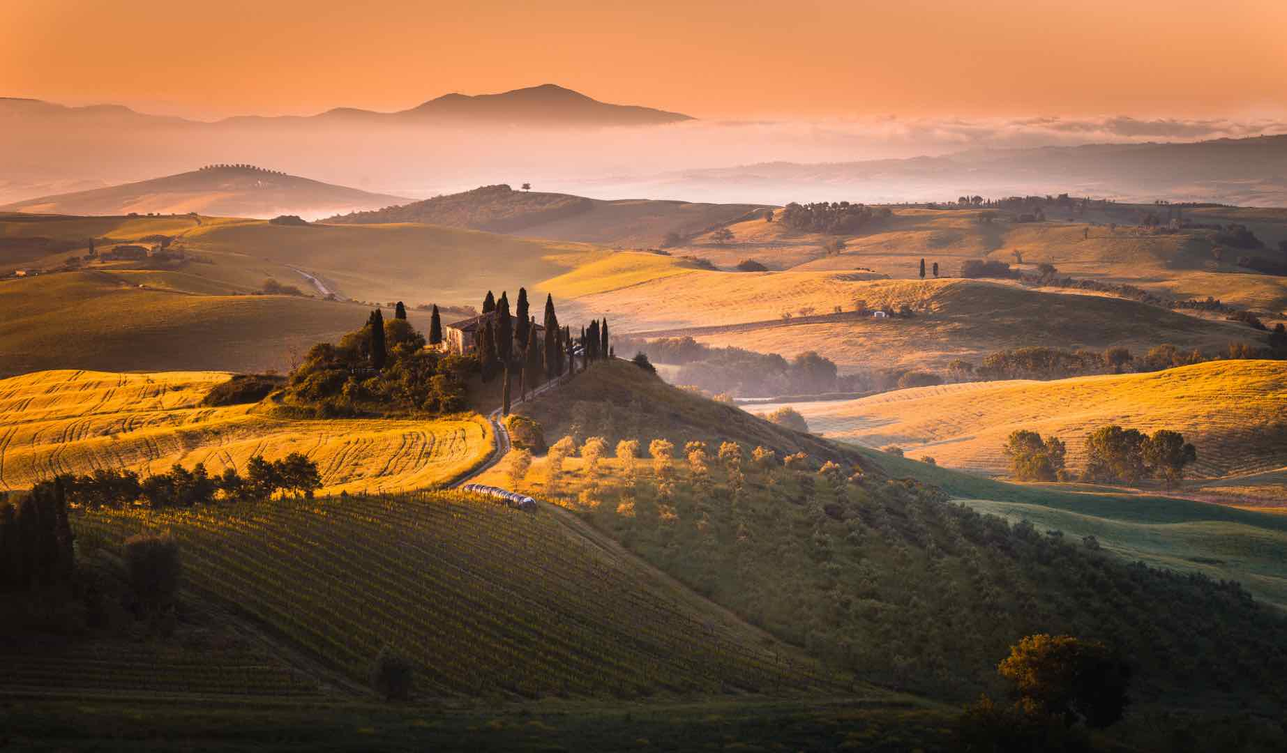 Incredible UNESCO Sites in Italy for your Itinerary by Italy Perfect Tuscany sunrise