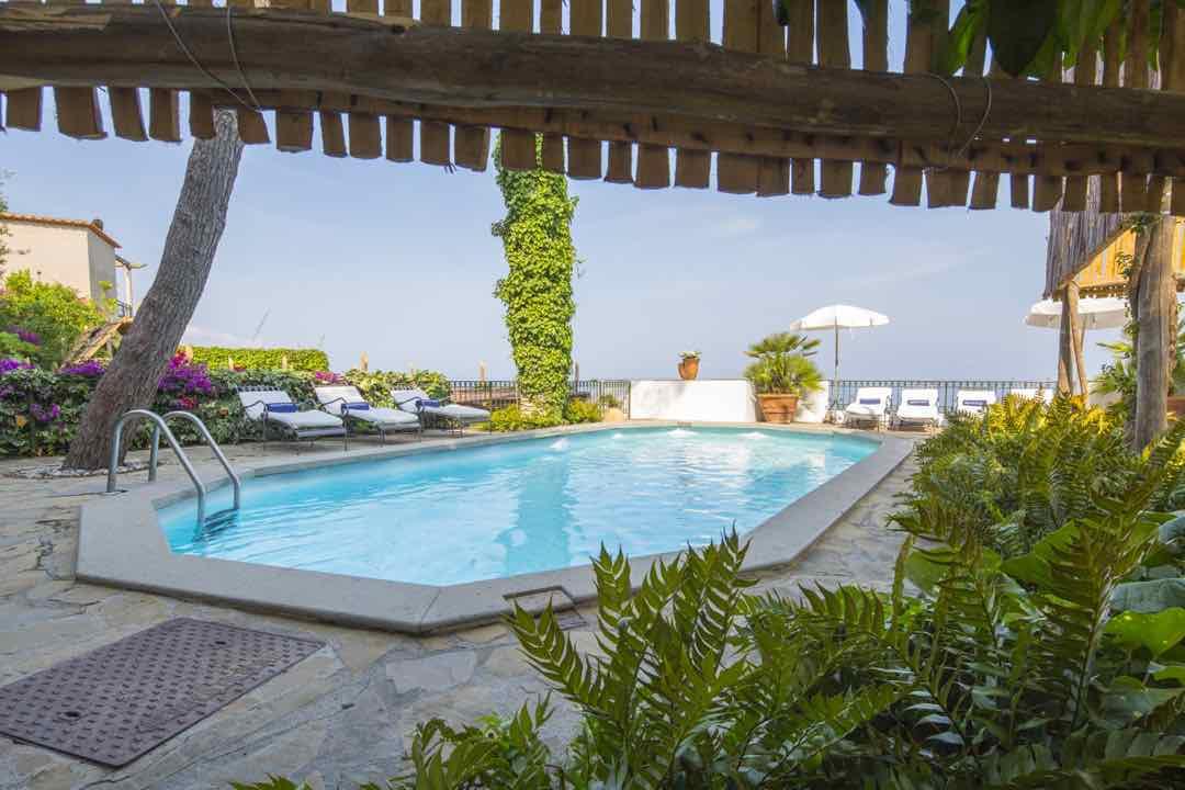 Amalfi Coast Villa with Pool summer heat in italy