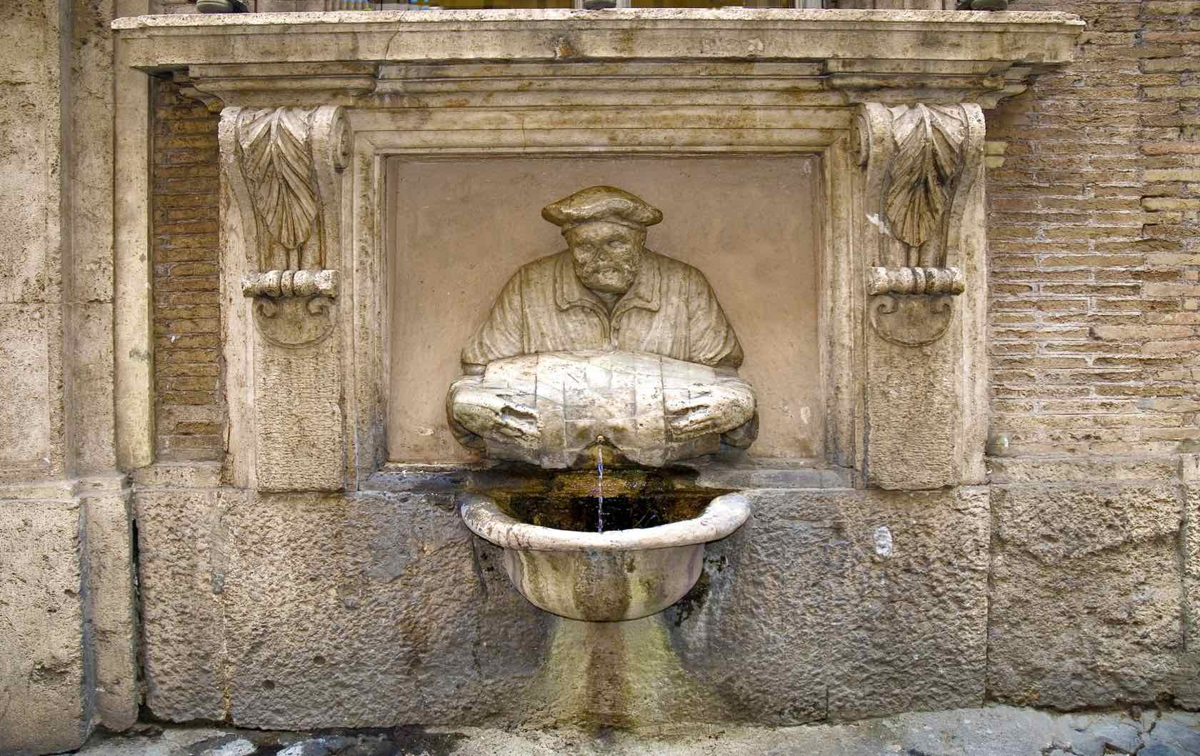 Fountain of the Facchino fountains in Rome