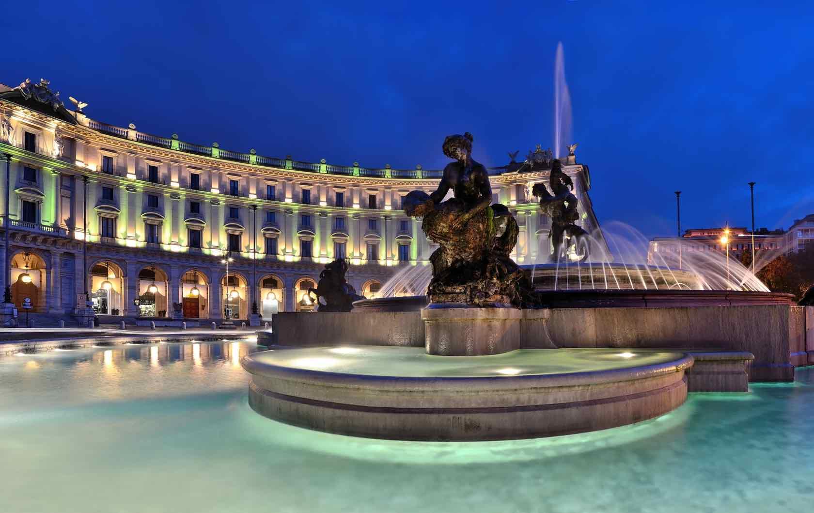 Fontana delle Naiadi Piazza Esedra Rome