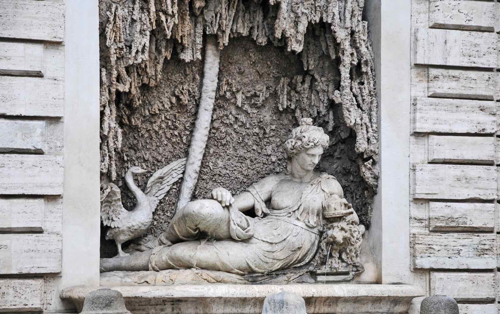 Via delle Quattro Fontane fountains in Rome