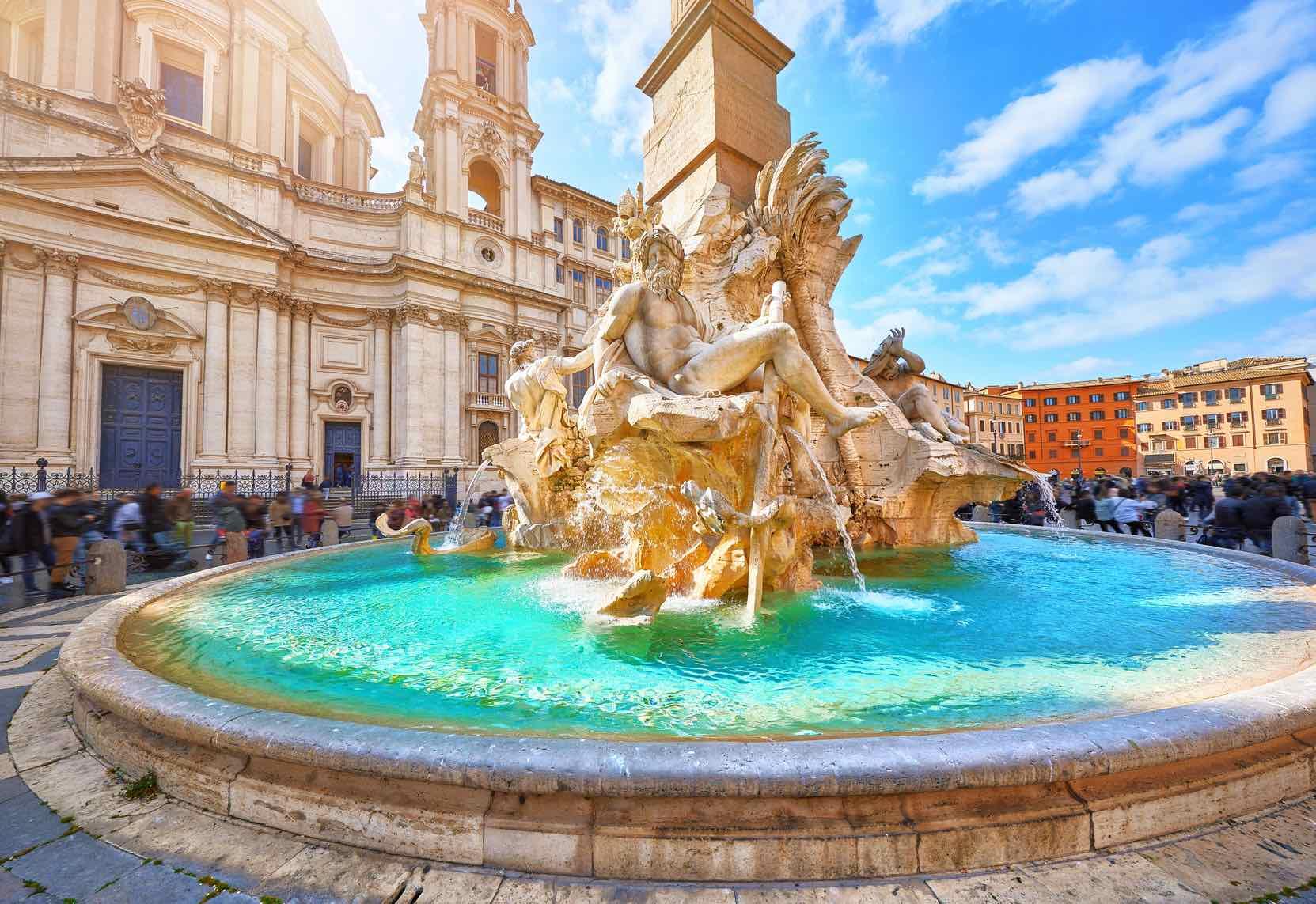 Fontana dei Quattro Fiumi fountains in Rome