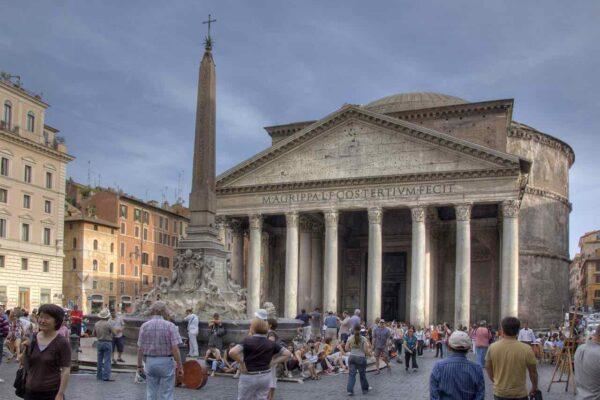 Rainy Day Rome Pantheon
