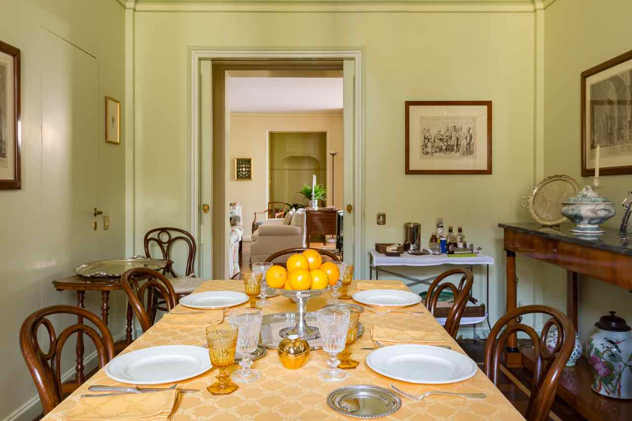 Rome Italy apartment dining room Spagna