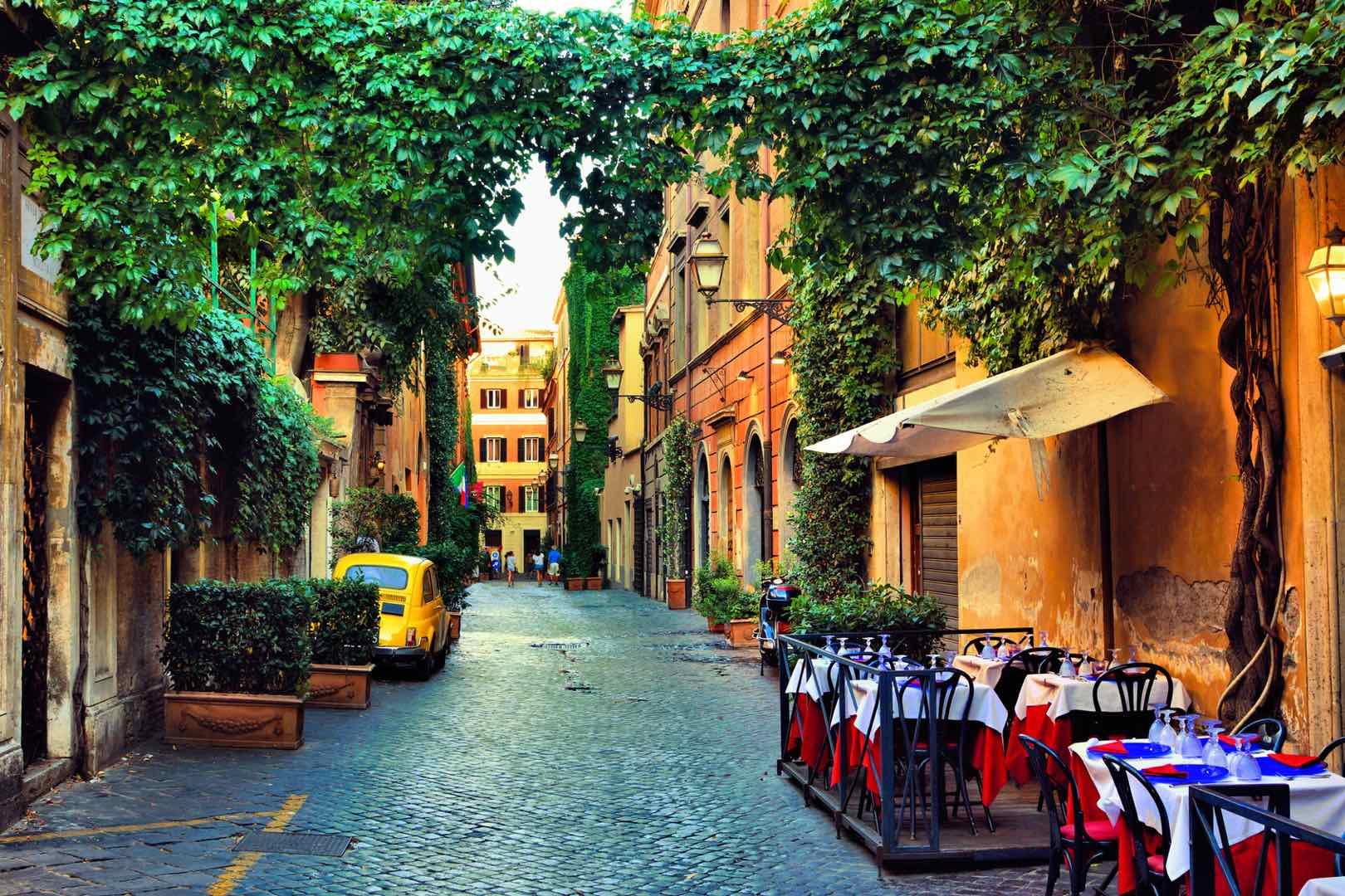 streeet in Rome's Monti neighborhood