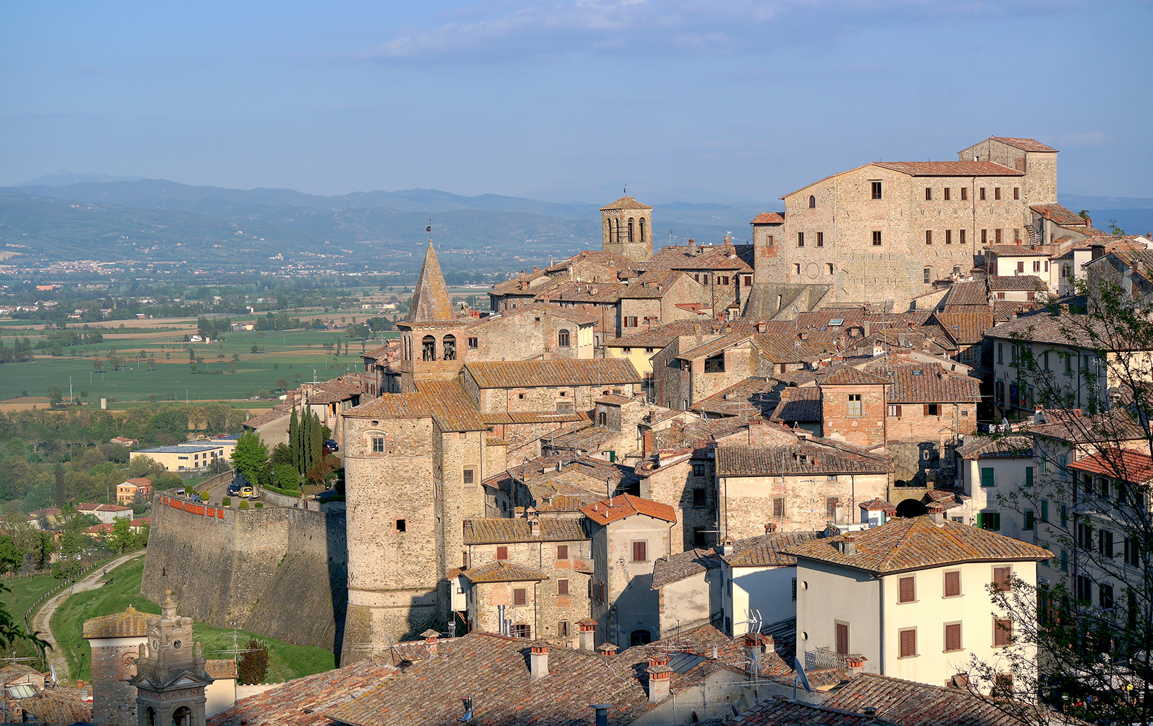 View of Anghiari in Tuscany
