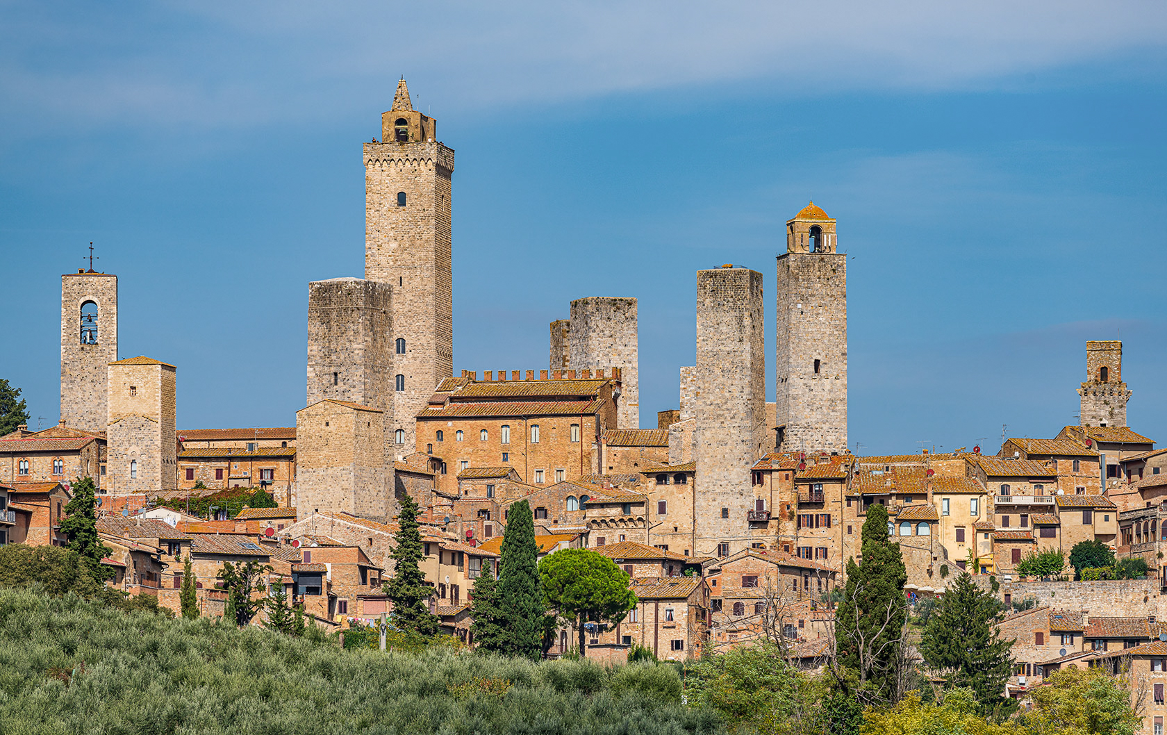 View of San Gimignano in Tuscany