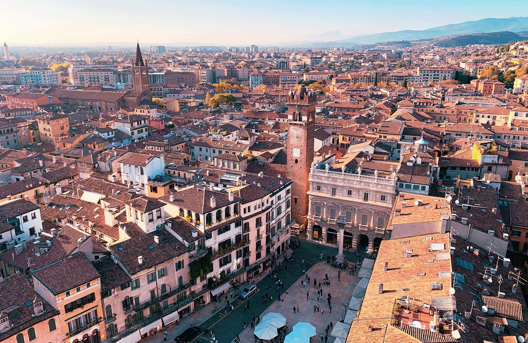 Charming Verona piazza
