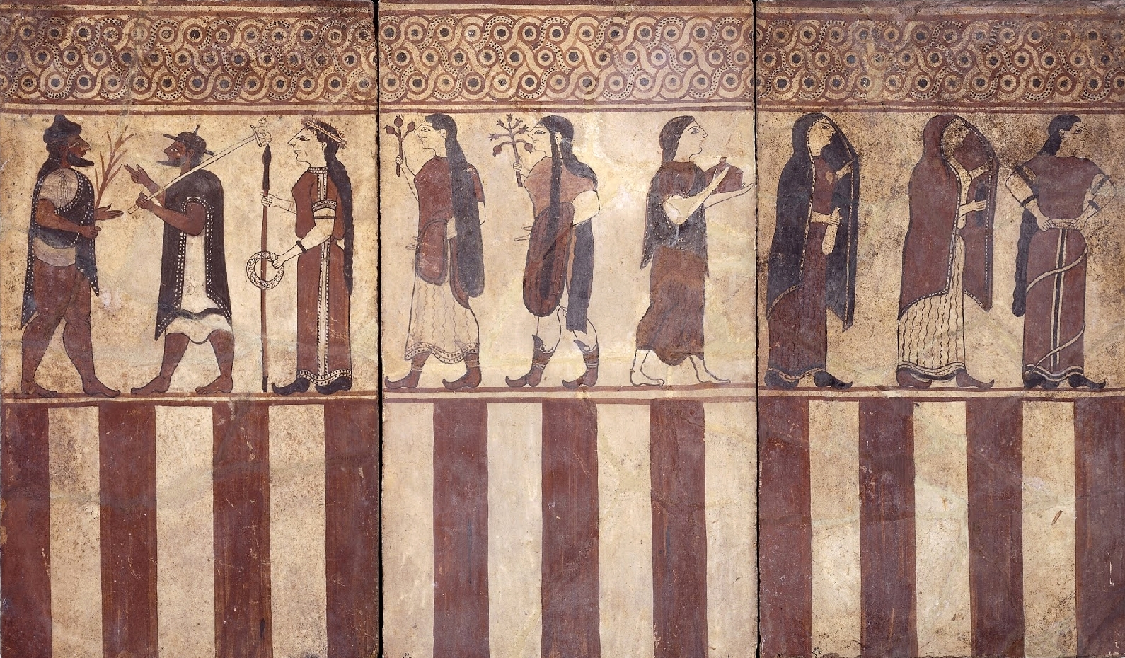 Etruscan tomb painting from the Necropolis of Cerveteri