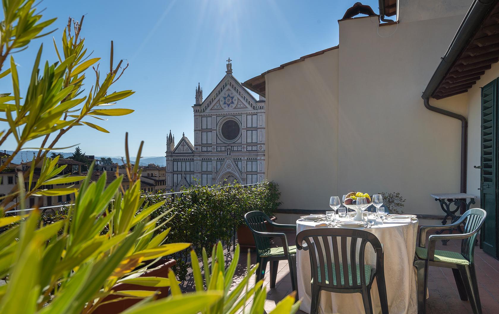Florence apartment rental overlooking Santa Croce